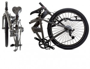 bicicleta ya plegada