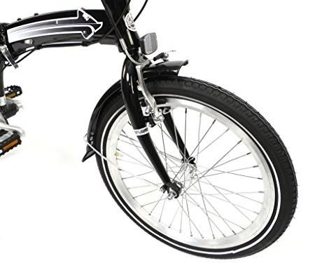 Bicicleta-plegable-20-pulgadas-ruedas-de-aluminio-cambio-Shimano-de-7-marchas-color-negro-0-0